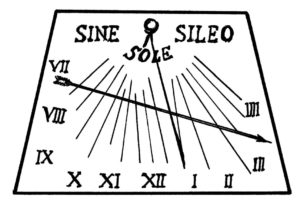 La meridiana, simbolo del LED